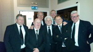 Helping Freddie 'Parrot Face' Davies celebrate 50 years in Freemasonry
